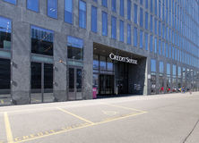 Credit Suisse building entrance Stock Image