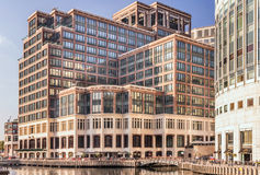 Credit Suisse-bureaus in Canary Wharf royalty-vrije stock afbeelding