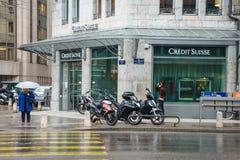 Credit Suisse deponuje pieniądze Obrazy Royalty Free