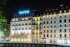 Credit Suisse ejerce la actividad bancaria Fotos de archivo libres de regalías