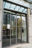 Credit Suisse ejerce la actividad bancaria Foto de archivo libre de regalías