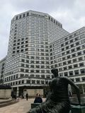 Headquarter building in canary wharf, London. CREDIT SUISSE royalty free stock photos
