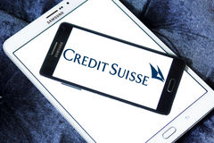 Credit Suisse logo Royalty Free Stock Images