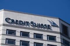 Credit Suisse Londres Imagens de Stock