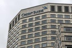 Credit Suisse Regno Unito fotografia stock libera da diritti