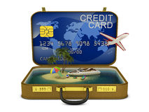 Credit suitcase Royalty Free Stock Photography