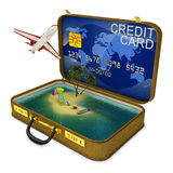 Credit suitcase Royalty Free Stock Photos