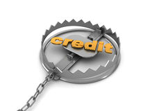 Credit trap Royalty Free Stock Image