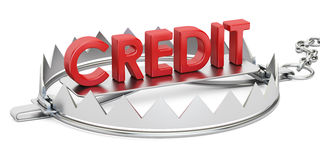 Credit trap, 3D rendering Stock Photos