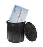 Credit In The Trash Royalty Free Stock Photos