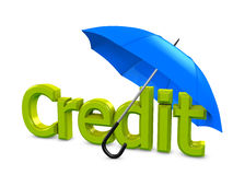 Credit umbrella Royalty Free Stock Photography