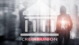 Credit Union Pieniężne spółdzielni bankowość usługi Finansowy abstrakcjonistyczny tło zdjęcie royalty free