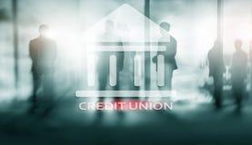 Credit Union Servicios bancarios cooperativos financieros Fondo abstracto de las finanzas libre illustration