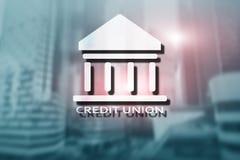 Credit Union Servicios bancarios cooperativos financieros Fondo abstracto de las finanzas imagenes de archivo