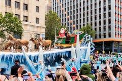 Credit Unions-Weihnachtsfestzug 2016 Stockbild