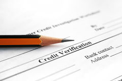 Credit  verification Stock Image