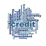 Credit word cloud Royalty Free Stock Photo