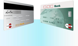 Creditcard, bank Royalty-vrije Stock Foto's