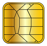 creditcard chip Royaltyfri Fotografi