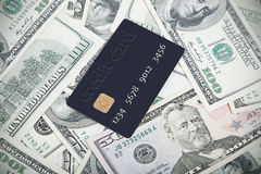 Creditcard of geld stock foto's