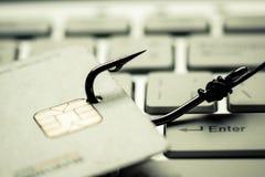 Creditcard het phishing Stock Foto