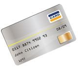 Creditcard illustration. With gray front Royalty Free Stock Images