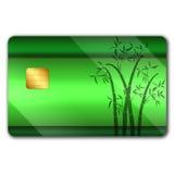 Creditcard met kleurrijke oranaments royalty-vrije illustratie