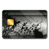Creditcard met kleurrijke oranaments stock illustratie