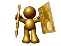 Creditcard online toepassing Stock Afbeeldingen