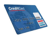 Creditcard op wit Royalty-vrije Stock Foto's