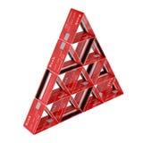 Creditcard s Concept - financiële piramide Geïsoleerd op de witte achtergrond Stock Fotografie