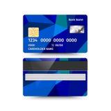 Creditcard twee kanten met Abstract ontwerp Vector illustratie stock illustratie