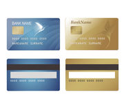 CreditCard in two colors Royalty Free Stock Image