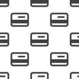 Creditcard, vector naadloos patroon stock illustratie