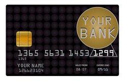 Creditcard voor uw bank stock illustratie