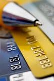 Creditcardachtergrond Stock Afbeeldingen