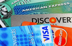Creditcards Royalty-vrije Stock Foto's