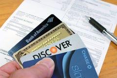 Creditcards Royalty-vrije Stock Afbeeldingen