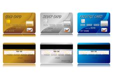 Creditcards Royalty-vrije Stock Foto