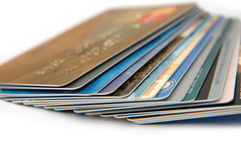 Creditcards royalty-vrije stock afbeelding