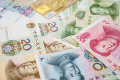 Creditcards en Chinese Yuans Royalty-vrije Stock Afbeelding
