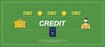 Credito bancario Illustrazione piana eps10 Immagine Stock