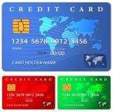 Credito o modello di progettazione di carta di debito Fotografia Stock Libera da Diritti
