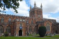Crediton教区教堂在德文郡英国 免版税图库摄影