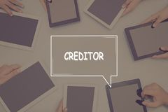 CREDITOR CONCEPT Business Concept. Business text Concept Royalty Free Stock Photos