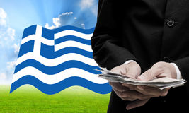 Creditor offer more loan, Greece's Debt Crisis Royalty Free Stock Images