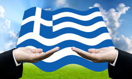 Creditors ask for pay dept, Financial Crisis in Greece. Concept Stock Image