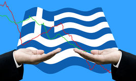 Creditors ask for pay dept, Financial Crisis in Greece. Concept Stock Photography