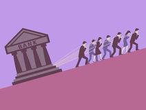 Creditors. Debtors are enslaved to the banking system Royalty Free Stock Photography