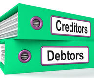 Creditors Debtors Files Shows Lending. Creditors Debtors Files Showing Lending And Borrowing Royalty Free Stock Image